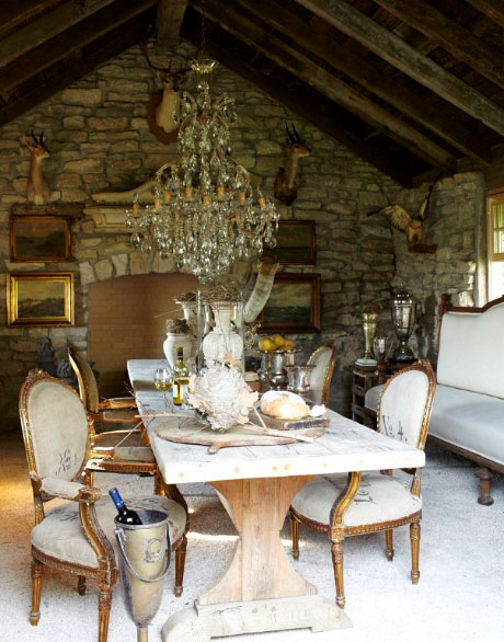 Braher converted a barn on her client's property into this gorgeous hideaway.