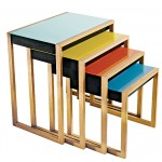 My Husband's Interpretation of Josef Albers' Nesting Tables
