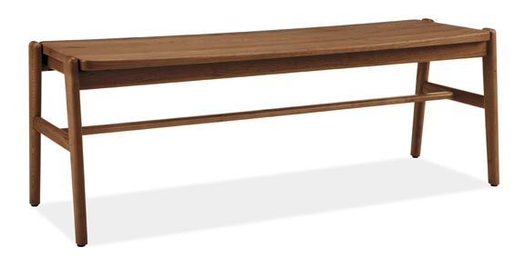 The lamp would also look great next to this Jansen bench.