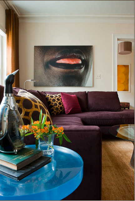 The lips were photographed by Jason Horowitz (and you can see a glimpse of Meyers' work in the front hall beyond).
