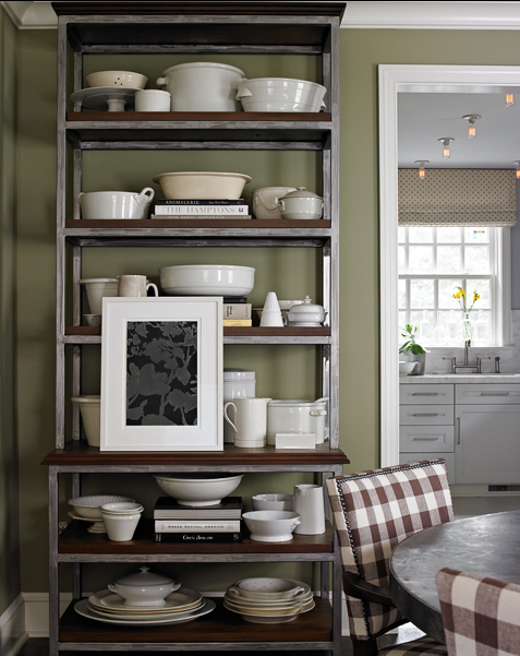 David Mitchell designed this etagere for Salvations—and now uses it in his own dining room.