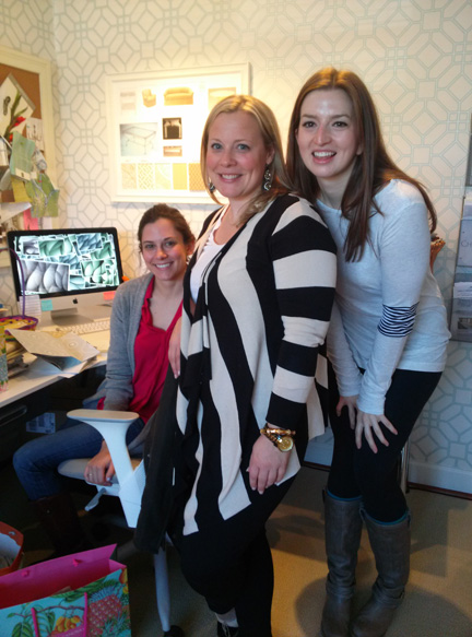 L-R: Lucy Samperton, Sally and Heather Safferstone.
