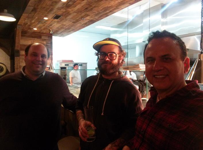 l-r: Jeff Akseizer; chef Matt Lang; owner Steve Roberts