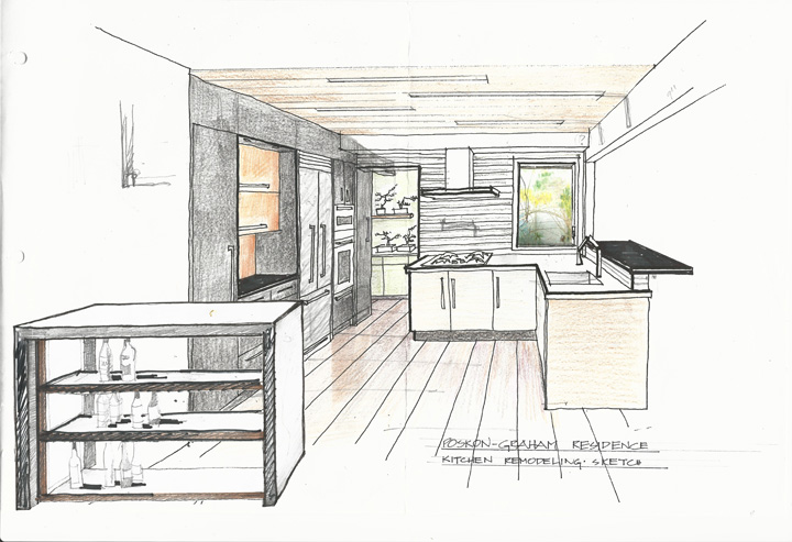 Kitchen-view-sketch