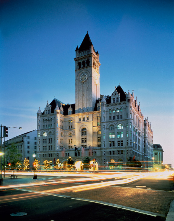 At any time of year, this hotel is literally situated at the center of DC's power corridor.