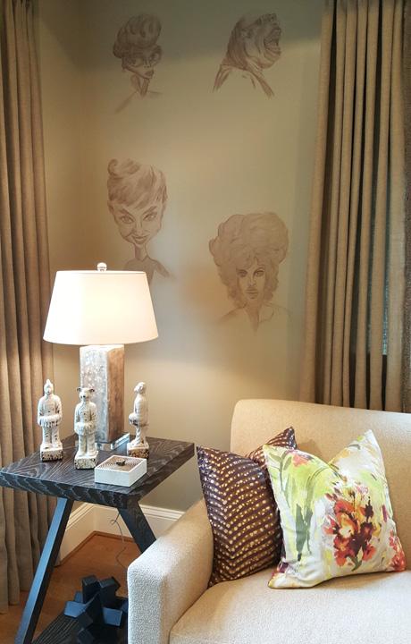 """""""La Salon Del Celebrity,"""" a sitting room by Camille Saum"""