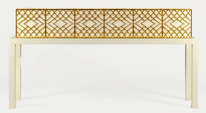 The Leather and Lace console