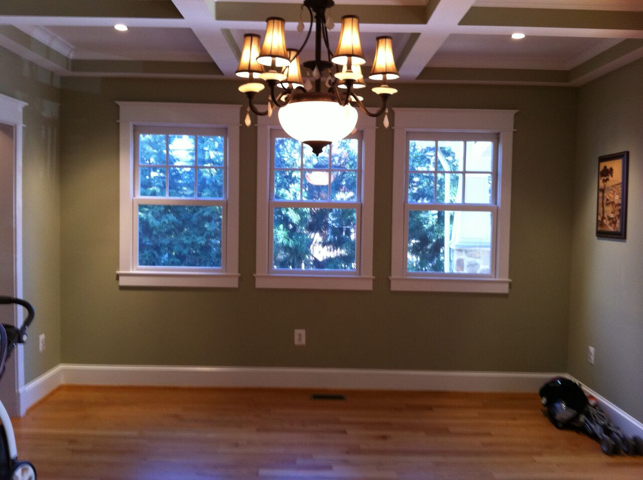 Client dining room before