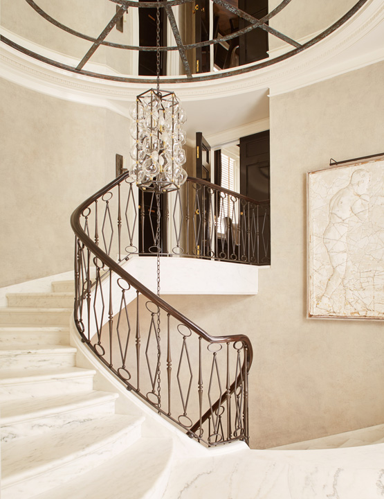 csutom marble staircase