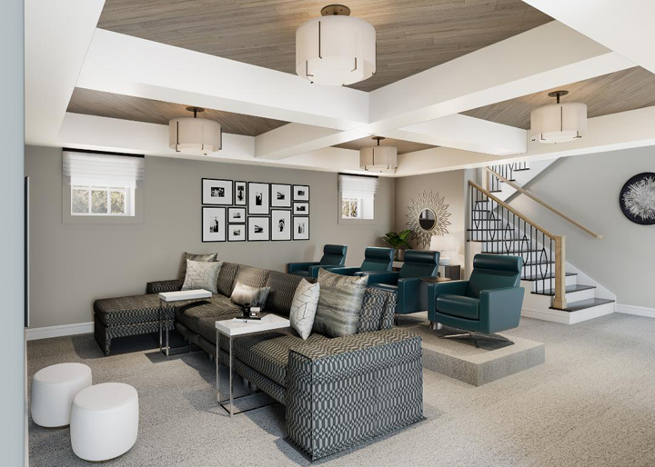 Family movie theater screening area by Dennese Guadalupe Rojas, Interiors by Design