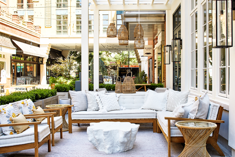 Outdoor furnishings at Serena & Lily in Bethesda, Maryland