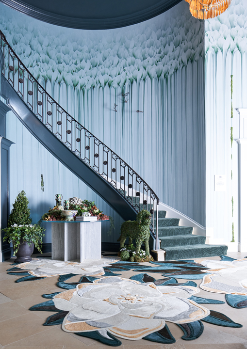 Entry and main staircase to the 2020 Kips Bay Dallas Showhouse, by Rottet Studio