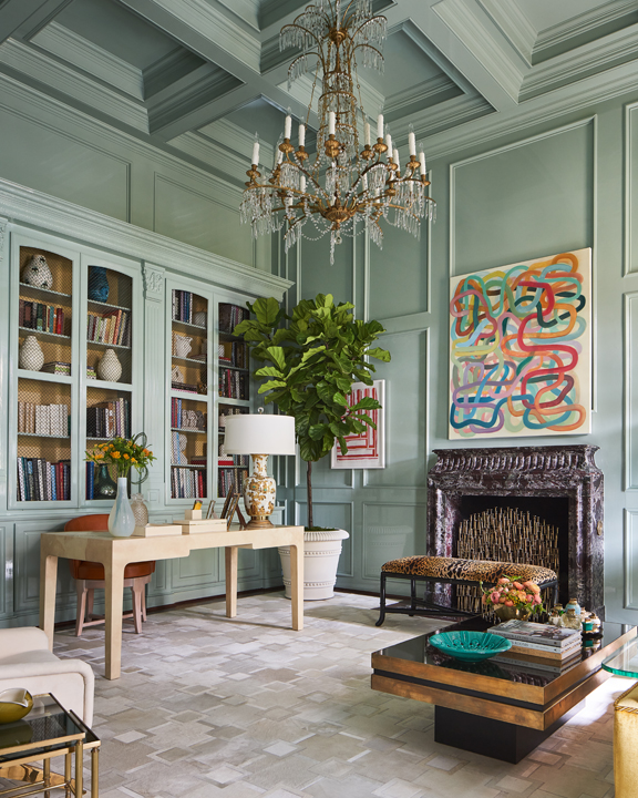 Lady's study at the 2020 Kips Bay Dallas Showhouse, by Jan Showers