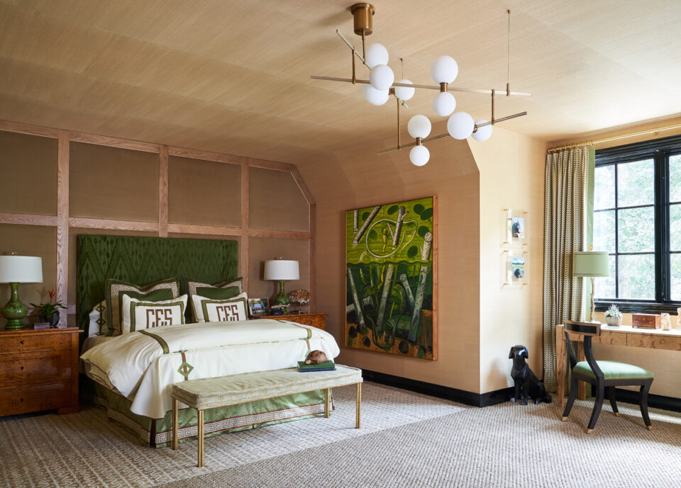 A son's bedroom by Trish Sheats at the 2020 Dallas Kips Bay showhouse