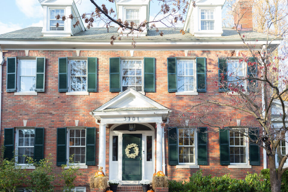 Colonial-revival home in Chevy Chase DC circa 1923