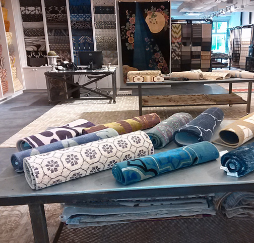 New to the design center: Doris Leslie Blau rugs. No more commuting to NYC for this gorgeous collection.
