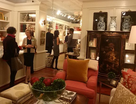 Victoria hosted the International Furnishings and Design Association for its monthly reception, where guests got a tutorial in styling rooms by magazine stylist and writer Charlotte Safavi.