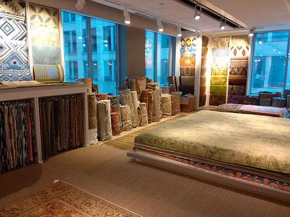 With so many colors and patterns at Galleria, this showroom is like a candy store.