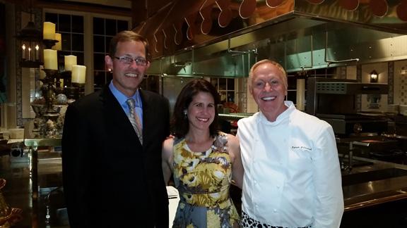 Jim, myself, and the chef!
